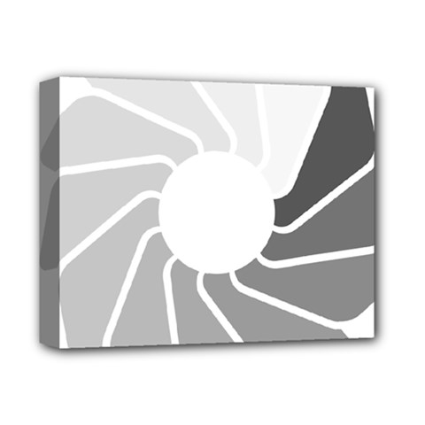 Flower Transparent Shadow Grey Deluxe Canvas 14  X 11
