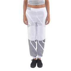 Flower Transparent Shadow Grey Women s Jogger Sweatpants