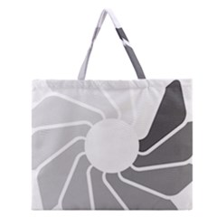 Flower Transparent Shadow Grey Zipper Large Tote Bag by Alisyart