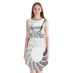 Flower Transparent Shadow Grey Sleeveless Chiffon Dress   by Alisyart