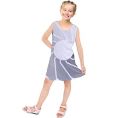 Flower Transparent Shadow Grey Kids  Tunic Dress by Alisyart