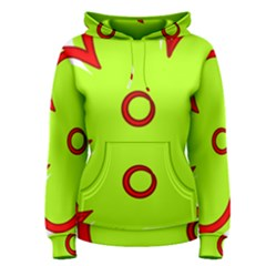Flower Floral Red Green Women s Pullover Hoodie