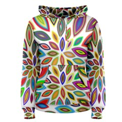 Chromatic Flower Petals Rainbow Women s Pullover Hoodie