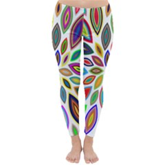 Chromatic Flower Petals Rainbow Classic Winter Leggings
