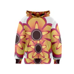Flower Floral Hole Eye Star Kids  Pullover Hoodie by Alisyart