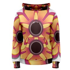 Flower Floral Hole Eye Star Women s Pullover Hoodie