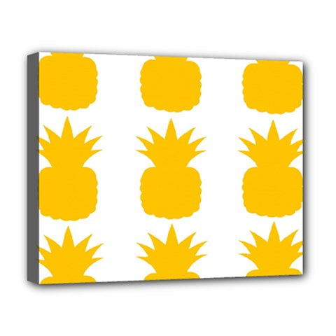 Fruit Pineapple Printable Orange Yellow Deluxe Canvas 20  X 16   by Alisyart