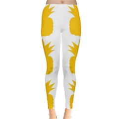 Fruit Pineapple Printable Orange Yellow Leggings  by Alisyart