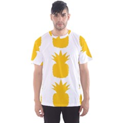 Fruit Pineapple Printable Orange Yellow Men s Sport Mesh Tee by Alisyart