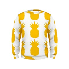 Fruit Pineapple Printable Orange Yellow Kids  Sweatshirt
