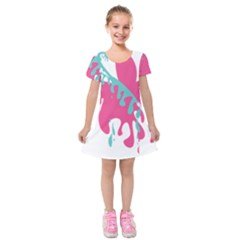 Full Butterfly Kids  Short Sleeve Velvet Dress
