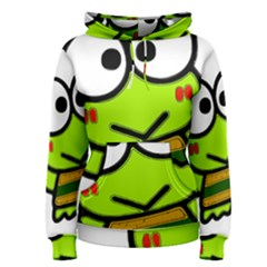 Frog Green Big Eye Face Smile Women s Pullover Hoodie