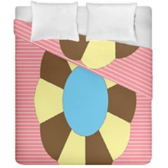 Garage Door Quilts Flower Line Duvet Cover Double Side (california King Size)