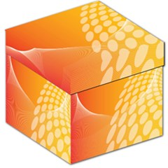 Abstract Orange Background Storage Stool 12