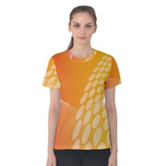 Abstract Orange Background Women s Cotton Tee