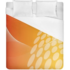 Abstract Orange Background Duvet Cover (california King Size) by Simbadda