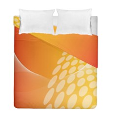 Abstract Orange Background Duvet Cover Double Side (full/ Double Size) by Simbadda