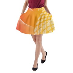 Abstract Orange Background A Line Pocket Skirt by Simbadda
