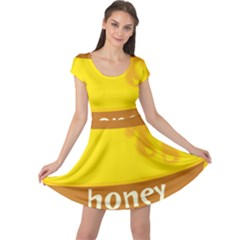 Honet Bee Sweet Yellow Cap Sleeve Dresses by Alisyart