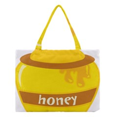 Honet Bee Sweet Yellow Medium Tote Bag by Alisyart