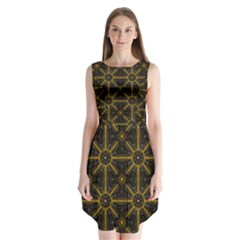 Digitally Created Seamless Pattern Tile Sleeveless Chiffon Dress   by Simbadda