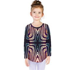 Vibrant Pattern Colorful Seamless Pattern Kids  Long Sleeve Tee by Simbadda