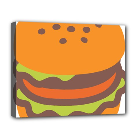 Hamburger Deluxe Canvas 20  X 16