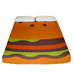 Hamburger Fitted Sheet (california King Size)