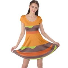 Hamburger Cap Sleeve Dresses