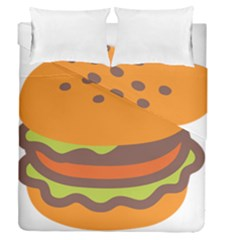 Hamburger Duvet Cover Double Side (queen Size) by Alisyart