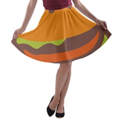 Hamburger A-line Skater Skirt by Alisyart