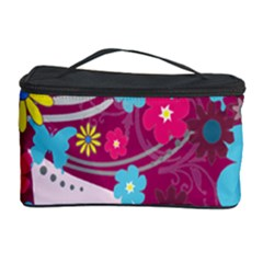 Floral Butterfly Hair Woman Cosmetic Storage Case by Alisyart