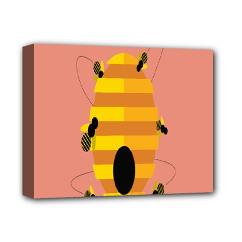 Honeycomb Wasp Deluxe Canvas 14  X 11  by Alisyart