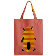 Honeycomb Wasp Zipper Classic Tote Bag