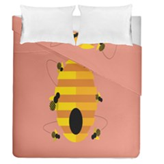 Honeycomb Wasp Duvet Cover Double Side (queen Size)