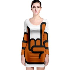 Metal Hand Long Sleeve Bodycon Dress by Alisyart