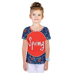 Floral Texture Pattern Card Floral Seamless Vector Kids  One Piece Tee