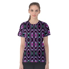 Colorful Seamless Pattern Vibrant Pattern Women s Cotton Tee