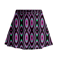 Colorful Seamless Pattern Vibrant Pattern Mini Flare Skirt by Simbadda