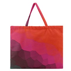 Abstract Elegant Background Pattern Zipper Large Tote Bag