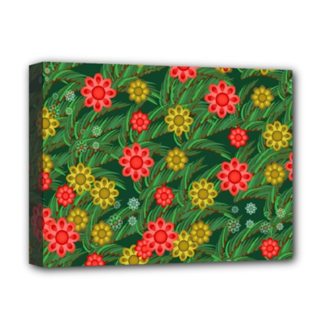 Completely Seamless Tile With Flower Deluxe Canvas 16  X 12   by Simbadda