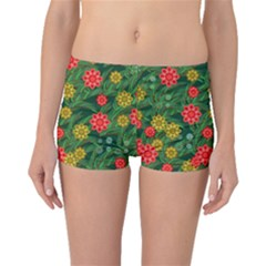 Completely Seamless Tile With Flower Boyleg Bikini Bottoms by Simbadda