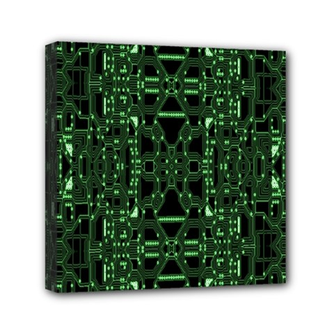 An Overly Large Geometric Representation Of A Circuit Board Mini Canvas 6  X 6  by Simbadda
