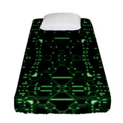 An Overly Large Geometric Representation Of A Circuit Board Fitted Sheet (single Size) by Simbadda