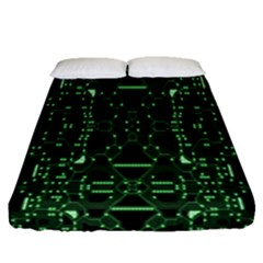 An Overly Large Geometric Representation Of A Circuit Board Fitted Sheet (queen Size) by Simbadda