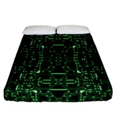 An Overly Large Geometric Representation Of A Circuit Board Fitted Sheet (california King Size)
