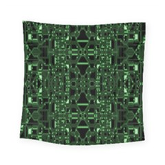 An Overly Large Geometric Representation Of A Circuit Board Square Tapestry (small) by Simbadda