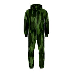 Camouflage Green Army Texture Hooded Jumpsuit (kids)