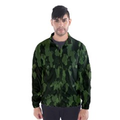 Camouflage Green Army Texture Wind Breaker (men)