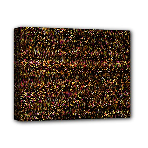 Pixel Pattern Colorful And Glowing Pixelated Deluxe Canvas 14  X 11  by Simbadda